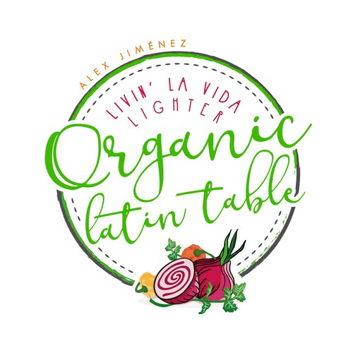Latin design with the title 'Logo | Organic Latin Table'