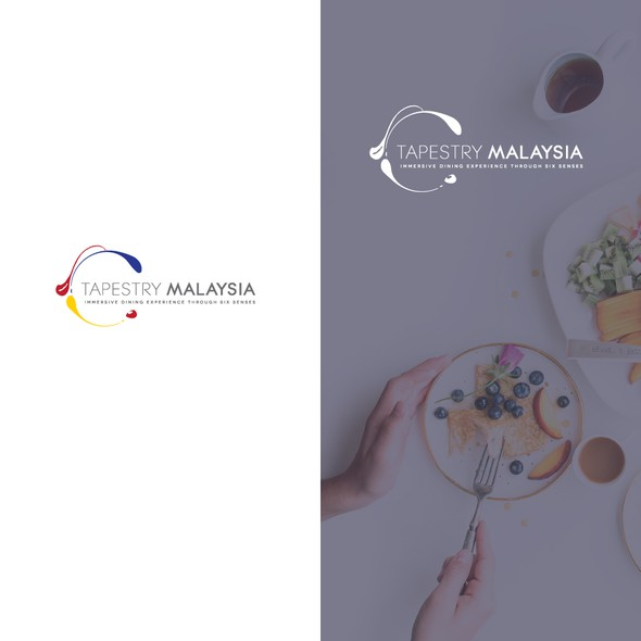 Gastronomy logo with the title 'Logo design for Tapestry Malaysia'
