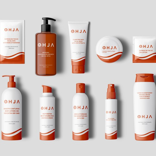 Product packaging with the title 'Product labels'