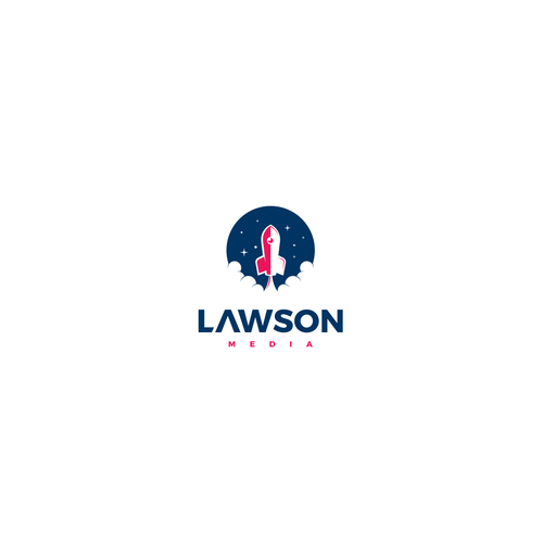 Rocket brand with the title 'Logo concept for Lawson Media'