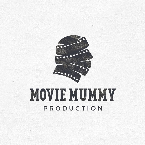Mummy design with the title 'Movie Mummy Production'