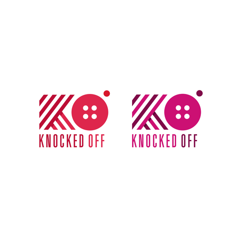 Fashion logo with the title 'Knocked Off'