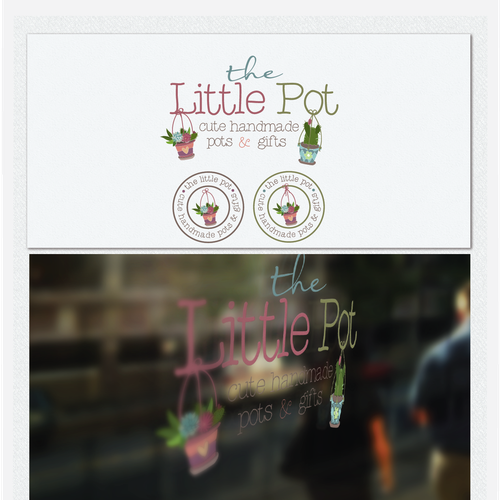 Trendy design with the title 'The Little Pot'
