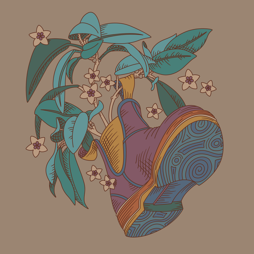 Plant illustration with the title 'Festival Style Illustration'