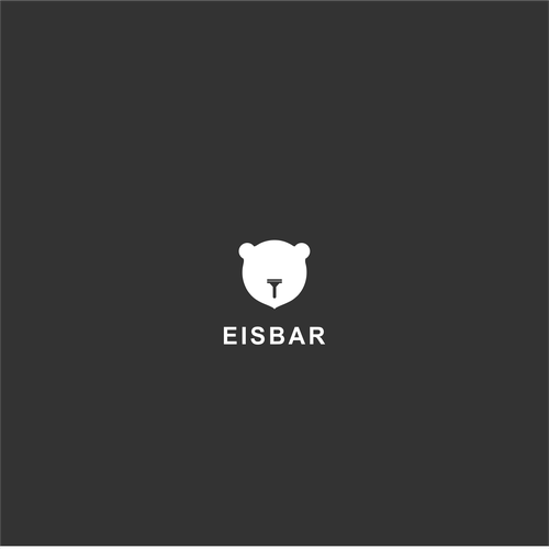Polar bear logo with the title 'EISBAR shaving products'