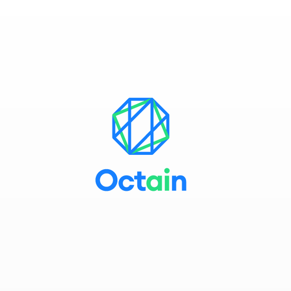 Octagonal logo with the title 'Logo for Octain'