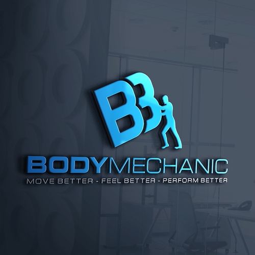 Moving logo with the title 'Logo for body mehanic'