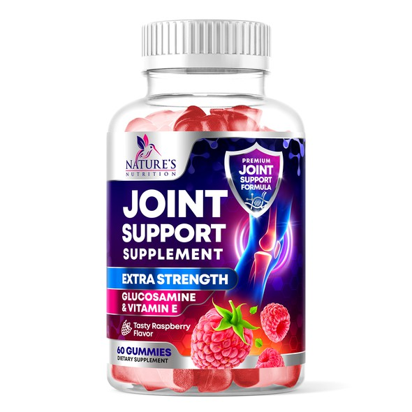 Photoshop label with the title 'Nature's Nutrition Joint Support Supplement'