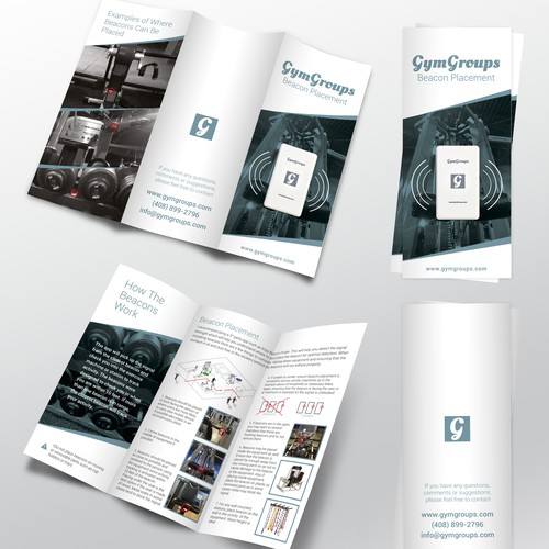 Workout design with the title 'GymGroups Brochure'