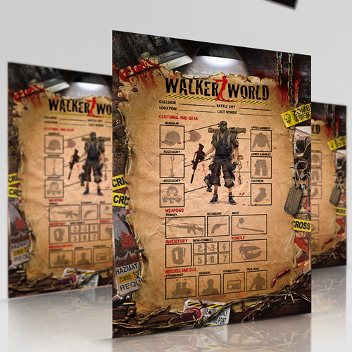Unique artwork with the title 'Create a Zombie survival template  for Walkerz World'