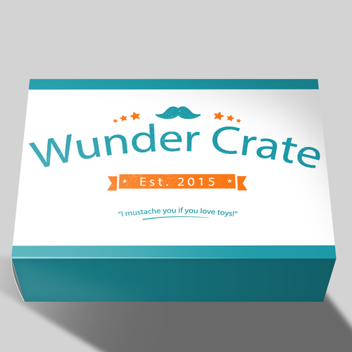 Subscription box logo with the title 'Wunder Crate - Box'