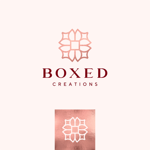 Floral brand with the title 'luxury boxes gifts '