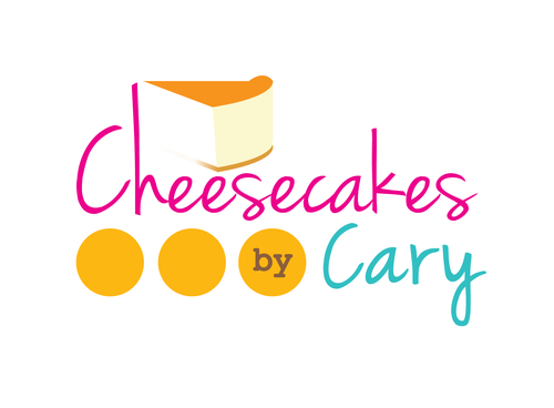 Cheesecake design with the title 'Cheesecake Logo in Multi-Color '