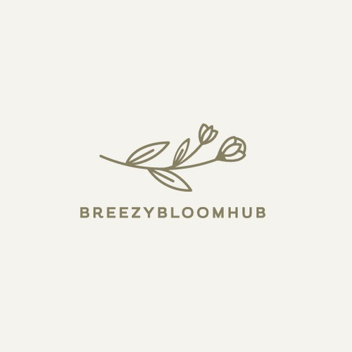 Plant design with the title 'BREEZYBLOOMHUB'