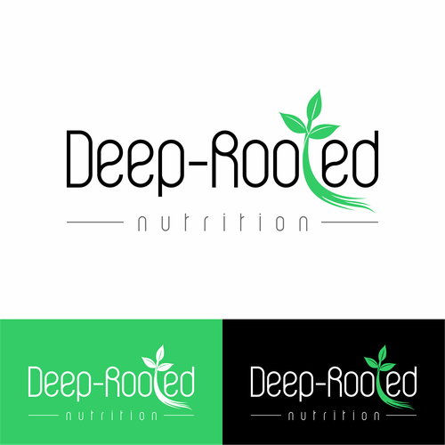 Deep logo with the title 'Deep-Rooted Nutrition Logo concept'