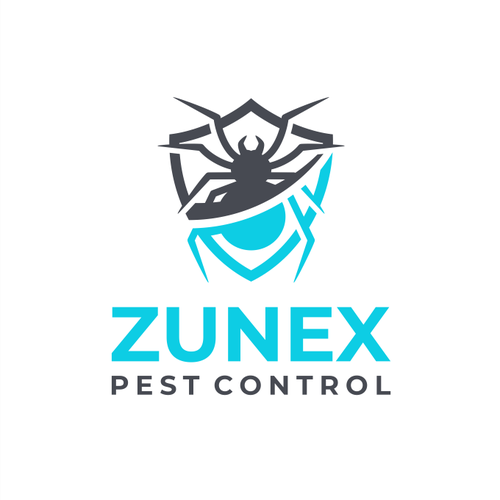 Pest control logo with the title 'Logo for Zunex Pest Control Company'