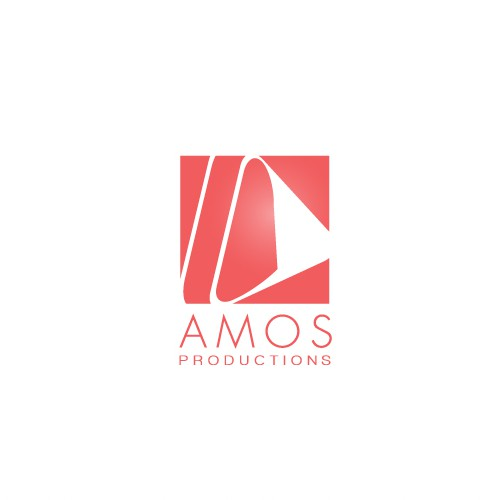 Staging logo with the title 'AMOS Productions Logo Design'