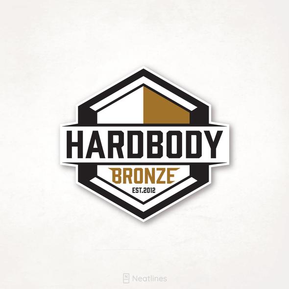 Tanning design with the title 'Hardbody Bronze'