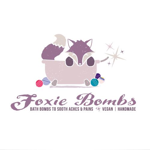 Dynamite logo with the title 'Fox Bath Bomb Logo'