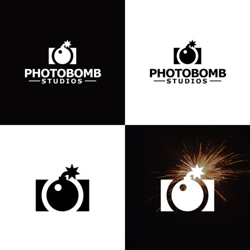 Bomb design with the title 'Photography Bomb Logo'