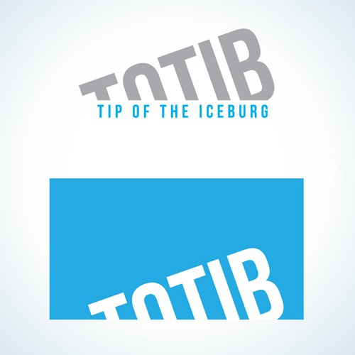 "Iceberg logo with the title 'Winning Logo Design for ""Totib/Conversions""'"