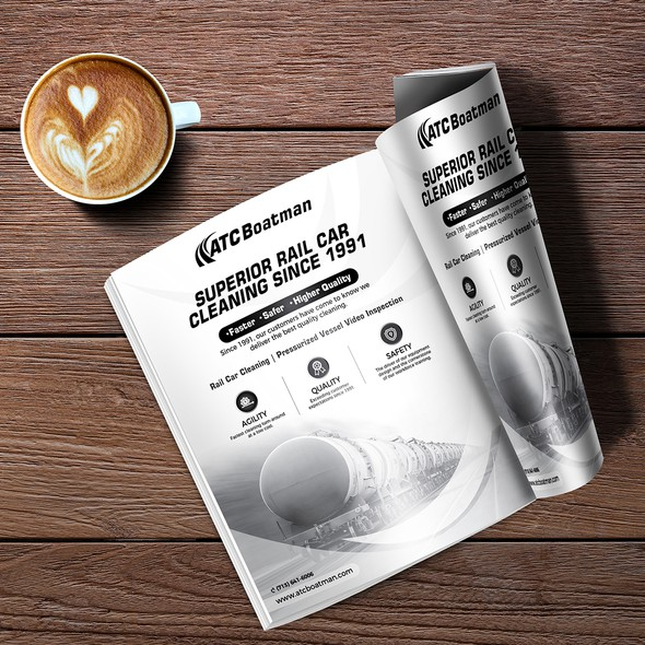 Advert design with the title 'Magazine Advertisment'