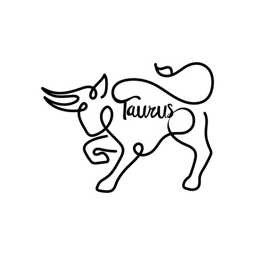 Zodiac design with the title 'Unique Flowing Taurus Design'