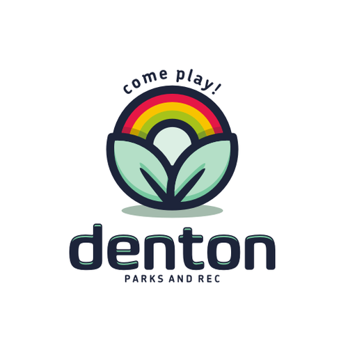 Rainbow design with the title 'DENTON PARKS AND REC'
