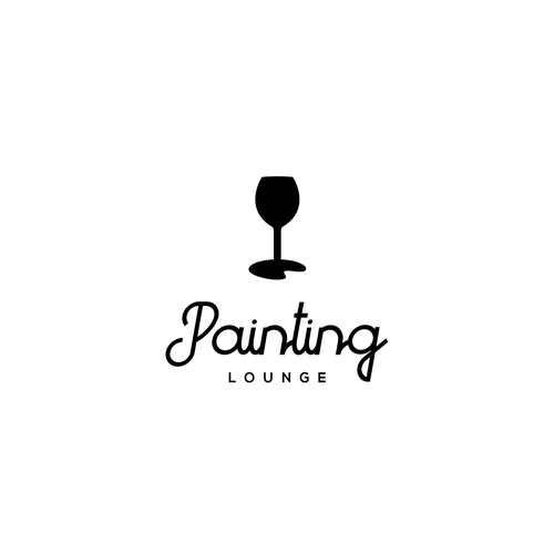 Lounge logo with the title 'Painting Lounge logo concept'