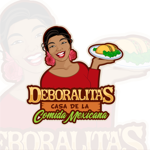 Burrito logo with the title 'Logo for Mexican / Spanish food restaurant'