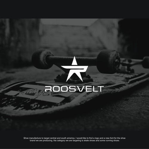 Skate logo with the title 'Roosvelt Logo Design'
