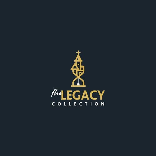 Hourglass logo with the title 'The Legacy Collection'