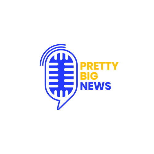 "Podcast brand with the title 'Logo and Branding for New Podcast called ""Pretty Big News""'"