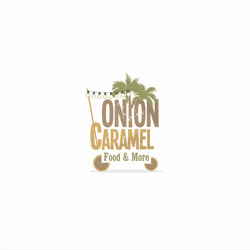 Earthy logo with the title 'Trendy design for Onion Caramel'