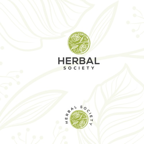 Herbal logo with the title 'Logo design for Herbal Society'