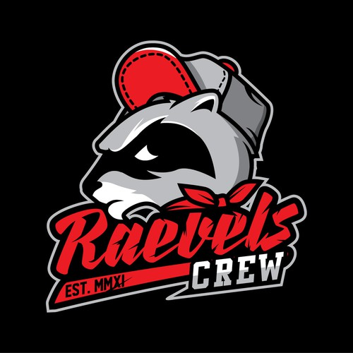 Hard work logo with the title 'Raebels Crew'