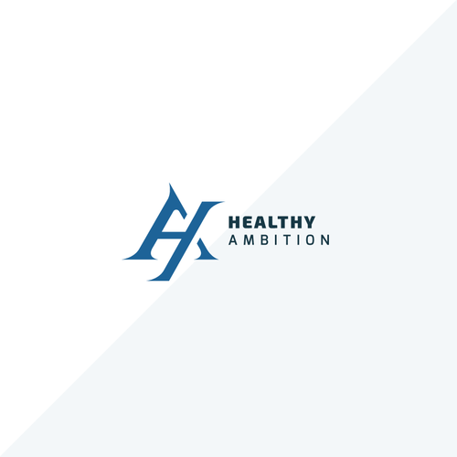 Cutting edge logo with the title 'Modern Logo for Online Fitness Brand : Healthy Ambition'