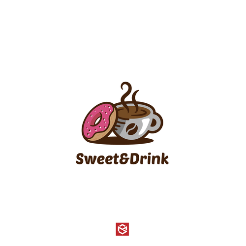 Exhaust logo with the title 'Bold logo for Coffee and Doughnut shop. '