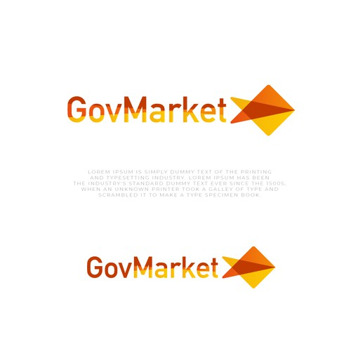 Marketplace logo with the title 'A digital marketplace for government logo design'