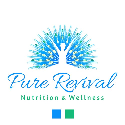 Human logo with the title 'Revival Logo Design'
