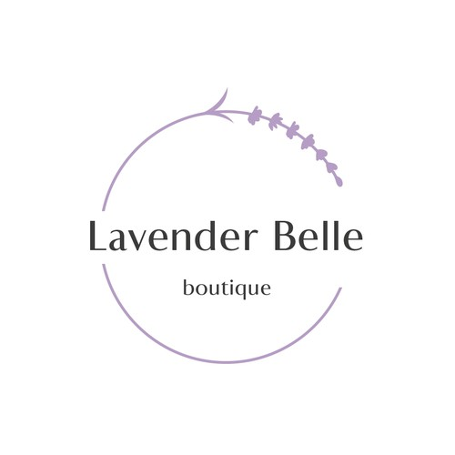 Lavender logo with the title 'Lavender Belle '