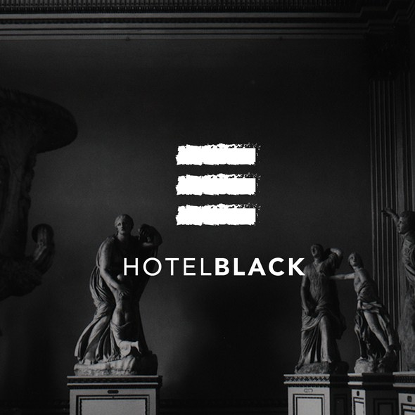 Edgy brand with the title 'Logodesign for Hotel Black '