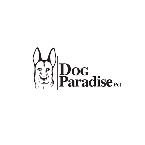 Can logo with the title 'dog paradise'