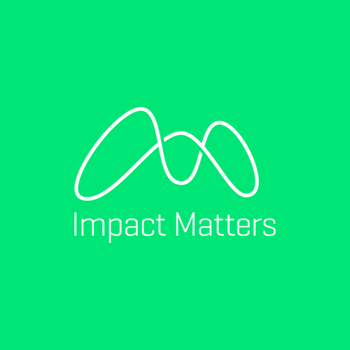 "Statistics logo with the title 'Logo Concept for ""Impact Matters""'"