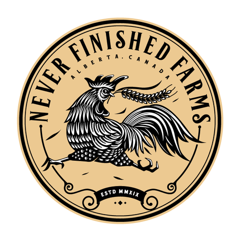 Rooster design with the title 'farm logo'