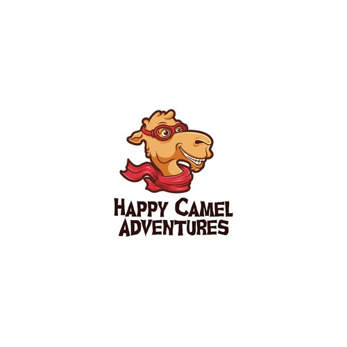Funny logo with the title 'Happy Camel Adventures'