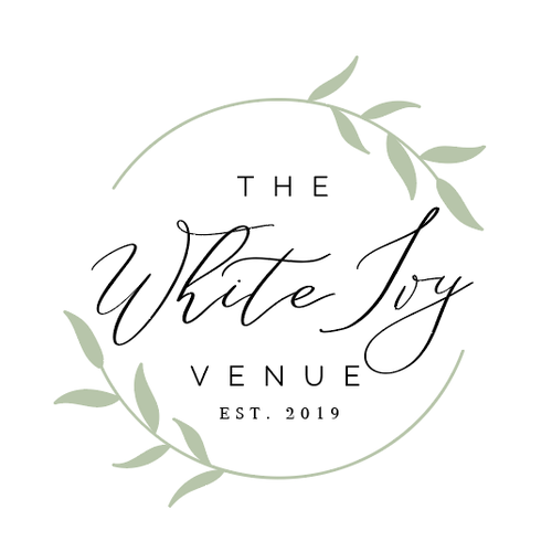 Farmhouse design with the title 'The White Ivy Venue'