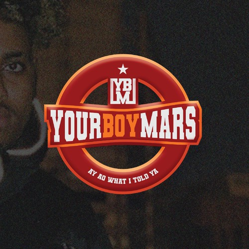 Rapper design with the title 'Varsity emblem logo'