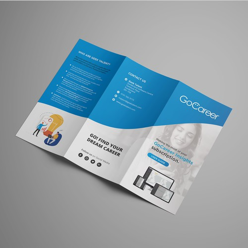 Tri-fold design with the title 'User guide for Software Product '