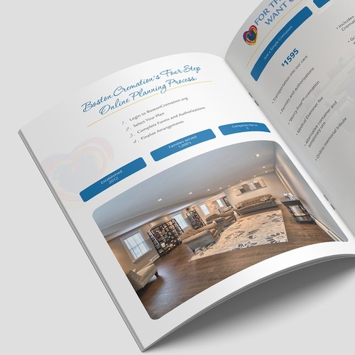 Non-profit design with the title 'Detailed Brochure for Cremation Business'